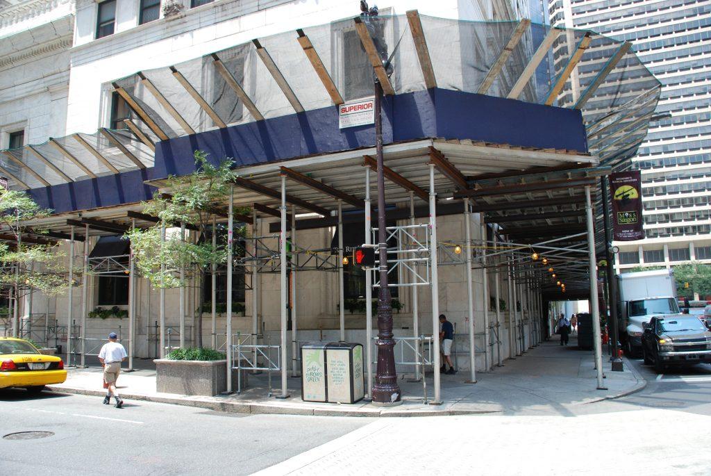 scaffolding sidewalk shed