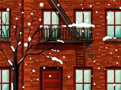fire-escape-on-apartment-building-vector-6090815